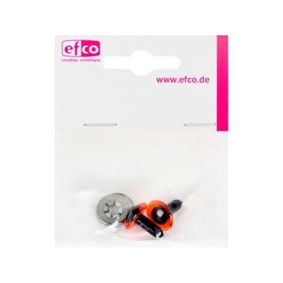Безопасни копчета - очички, 12 mm, 2 броя, червени