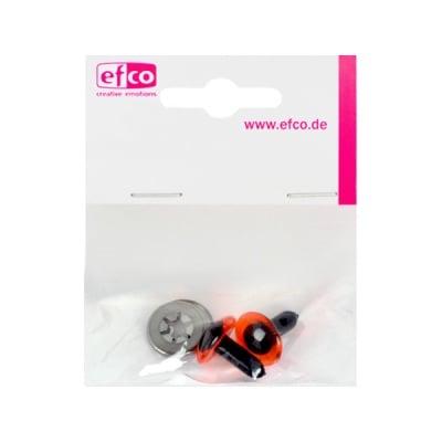 Безопасни копчета - очички, 14 mm, 2 броя, червени