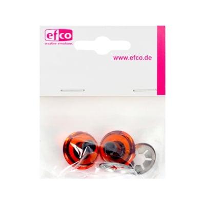 Безопасни копчета - очички, 16 mm, 2 броя, червени