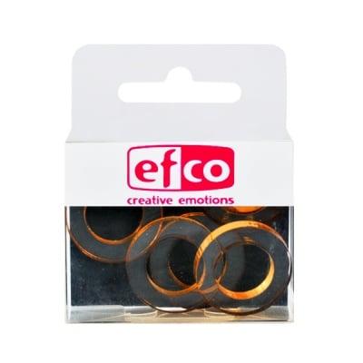 Бижу Acryl Duo, кръг, 4 / 24 mm, 5 броя, прозрачни с кафяв оттенък