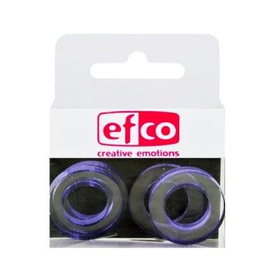 Бижу Acryl Duo, кръг, 4 / 24 mm, 5 броя, прозрачни със зелен оттенък