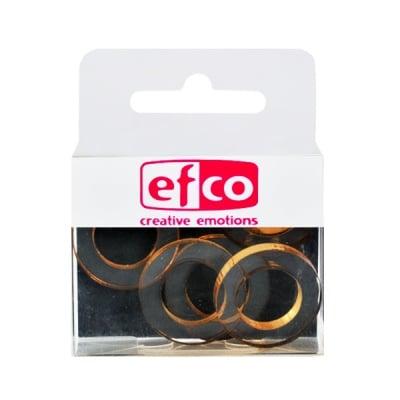 Бижу Acryl Duo, кръг, 4 / 24 mm, 5 броя, прозрачни със златист оттенък
