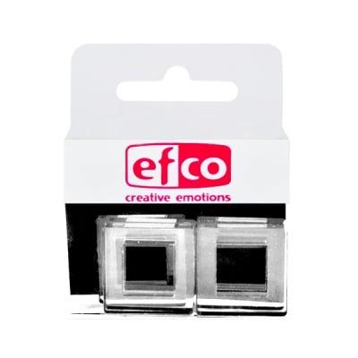 Бижу Acryl Duo, квадрат, 4 / 22 mm, 5 броя, прозрачни