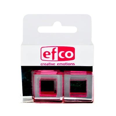 Бижу Acryl Duo, квадрат, 4 / 22 mm, 5 броя, прозрачни с червен оттенък