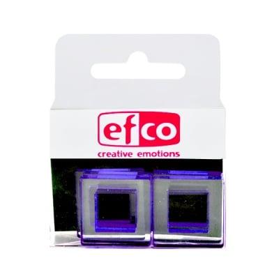 Бижу Acryl Duo, квадрат, 4 / 22 mm, 5 броя, прозрачни с лилав оттенък