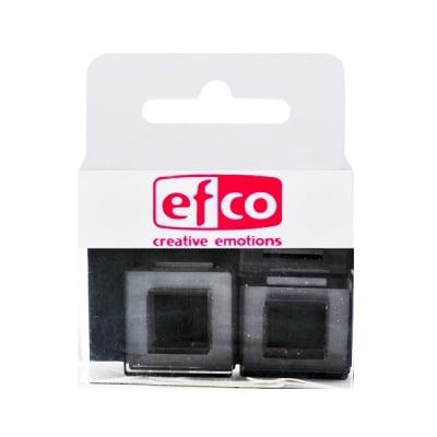Бижу Acryl Duo, квадрат, 4 / 22 mm, 5 броя, прозрачни със сив оттенък