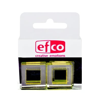 Бижу Acryl Duo, квадрат, 4 / 22mm, 5 броя, прозрачни, маслинен оттенък