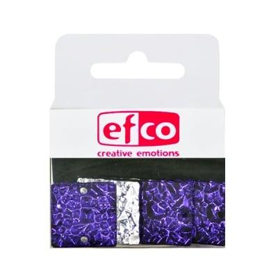 Бижу Acryl Ice crystal, квадрат, 20 mm, 5 броя, лилави