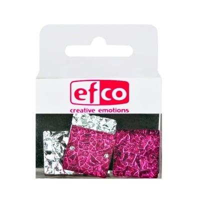 Бижу Acryl Ice crystal, квадрат, 20 mm, 5 броя, розови