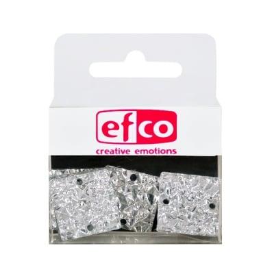 Бижу Acryl Ice crystal, квадрат, 20 mm, 5 броя, сребристи