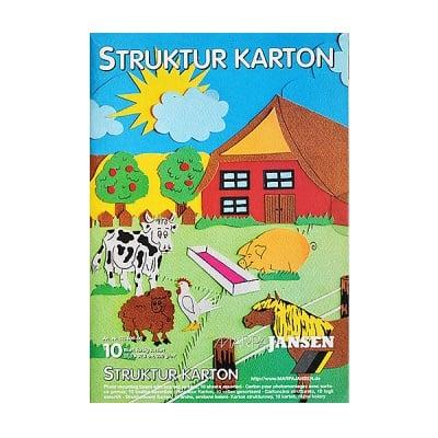 Блок структурен картон, 220 g/m2, 22,5 x 32,5, 10 л, разноцветен