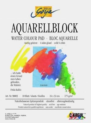 Блок за акварелни бои SOLO Goya, 250 g/m2, 24 x 32 cm, 10 л., torchon