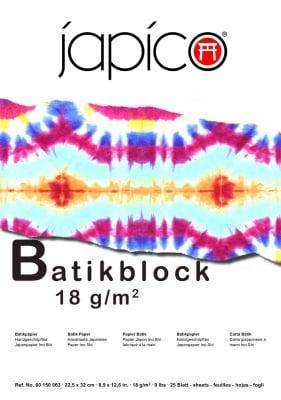 Блок за батик JAPICO, 18 g/m2, 22,5 x 32 cm, 25 листа