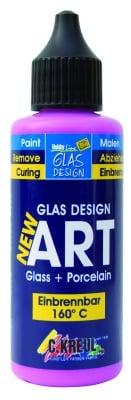 Боя за стъкло Glas Design New Art, 50 ml, розова