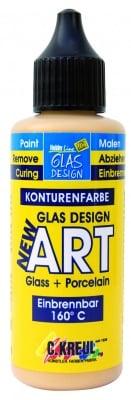 Боя за стъкло Glas Design New Art, 50 ml, златна
