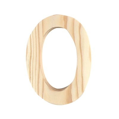 "Буква декоративна RicoDesign, ""O"", натурално дърво, 8 cm"
