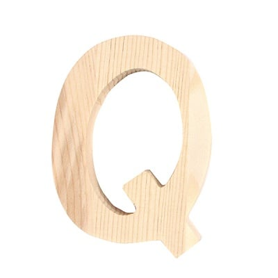 "Буква декоративна RicoDesign, ""Q"", натурално дърво, 8 cm"