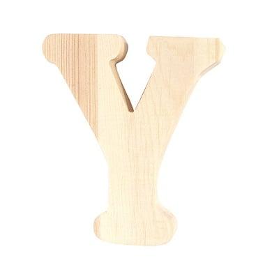 """Буква декоративна RicoDesign, """"Y"""", натурално дърво, 8 cm"""