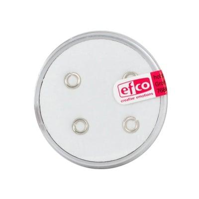Част за бижу, единична халка – кръг, 5 mm, 4 бр., Silver 925