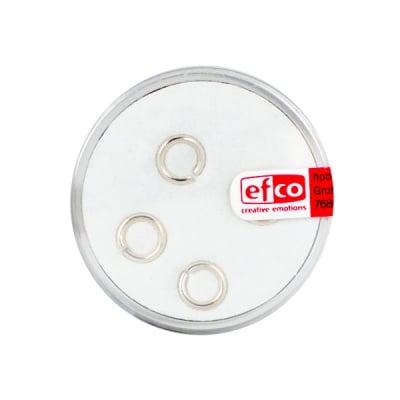Част за бижу, единична халка – кръг, 7 mm, 4 бр., Silver 925