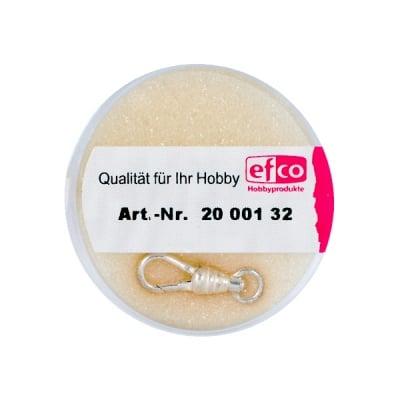 Част за бижу, закопчалка с шарнир, 18 mm, 1 бр., Silver 925