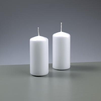 Цилиндрична свещ, ф 50 x H 100 mm, бял