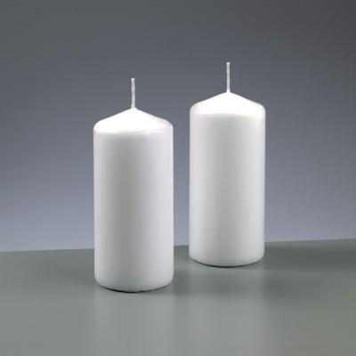 Цилиндрична свещ, ф 60 x H 130 mm, бял