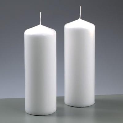 Цилиндрична свещ, ф 60 x H 165 mm, бял