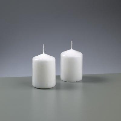 Цилиндрична свещ, ф 60 x H 85 mm, бял