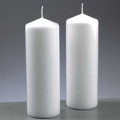 Цилиндрична свещ, ф 70 x H 200 mm, бял