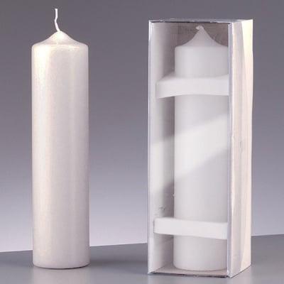 Цилиндрична свещ, ф 80 x H 250 mm, бял