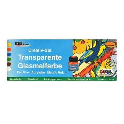 Комплект прозрачни бои GLAS COLOR, 6 бр.  x 20 ml
