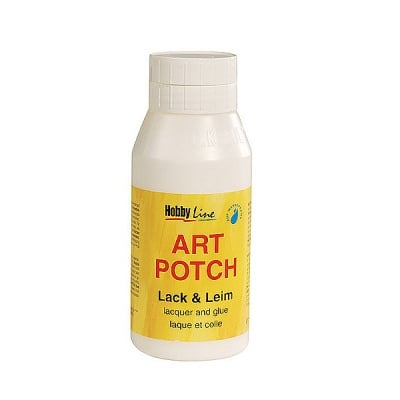 Декупажно лепило Art Potch Lack&Leim Glitter-Silber, 150 ml