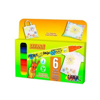 Комплект маркери текстилен SYNNY, JAVANA, fine, 6 бр.