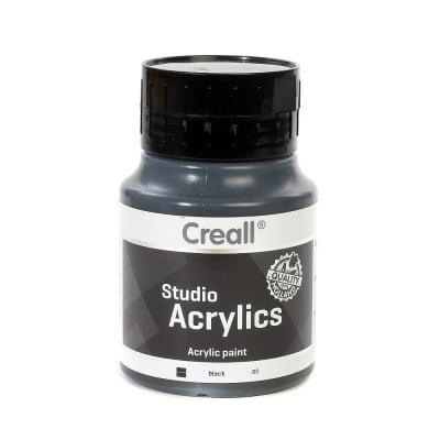 Акрилна боя CREALL-STUDIO-ACRYLICS, 500 ml, черна