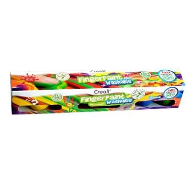 Комплект бои за рисуване с ръце CREALL, 6 цвята x 50 ml