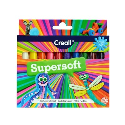 Моделин CREALL Supersoft, 120 g, 10 цвята