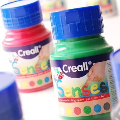Боички за рисуване с ръце за незрящи CREALL SENSES, 500 ml
