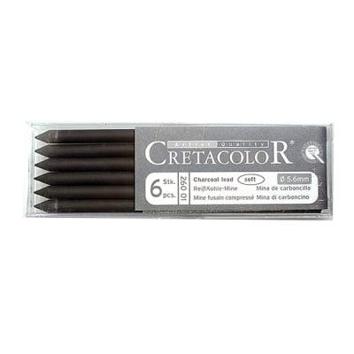 Въгленова сърцевина CretaColor, Charcoal, soft