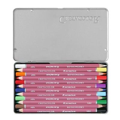 Комплект цветни моливи CretaColor, KARMINA, 12 цвята