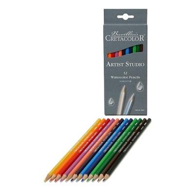 Комплект акварелни моливи Artist Studio Line, 12 цвята