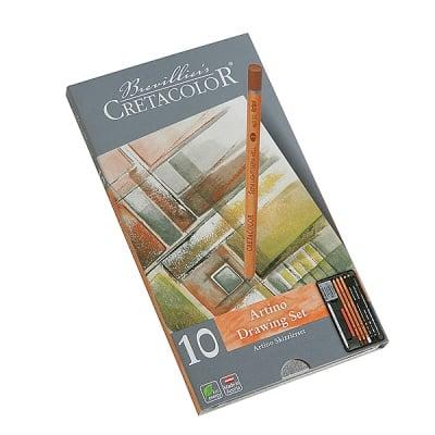 Комплект художествен CretaColor, ARTINO, метална кутия