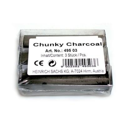 Въглен дебел CretaColor, Chunky Charcoal, 3 бр., 18 mm х
