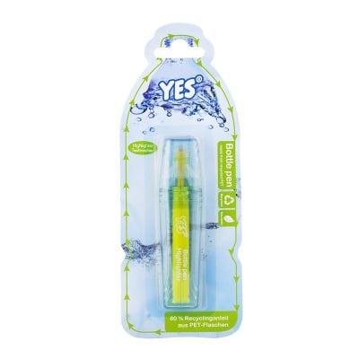Текст маркер YES, блистер, жълт