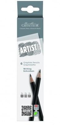 Комплект графитни моливи Artist Studio, 2-B, 2-HB, 2-F, карт. опаковка
