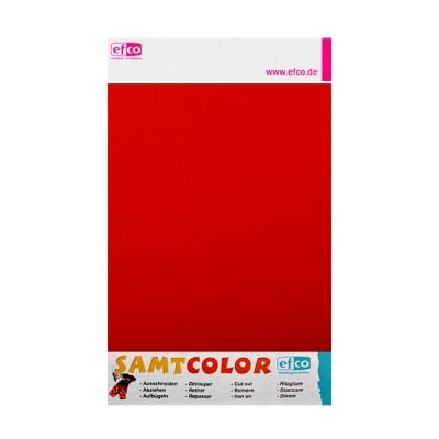 Цветен лист за декоративна щампа, SAMTCOLOR, 250 x 200 mm, 1 бр., червен