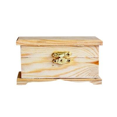 Дървен сандък, 12 x 5,5 x 6 cm, натурален