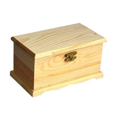 Дървен сандък, 16 х 9 х 8,5 см, натурален
