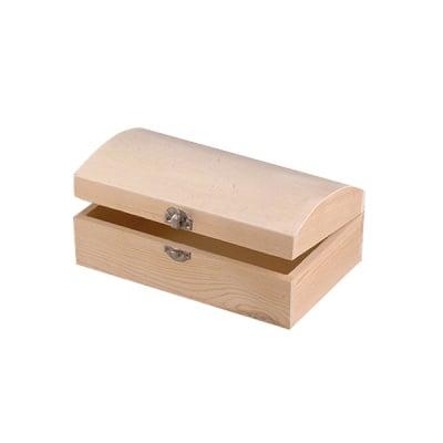 Дървен сандък, 16 x 8 x 6 cm, натурална