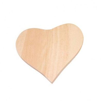 Дървена кухненска дъска за пирографиране, Сърце, 19 cm x 18 cm, 1 бр.